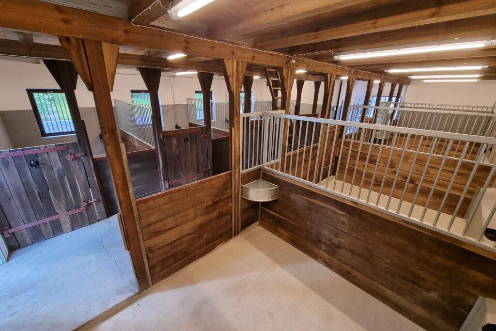 Blick in den renovierten Pferdestall von Hof Barrl in Schneverdingen