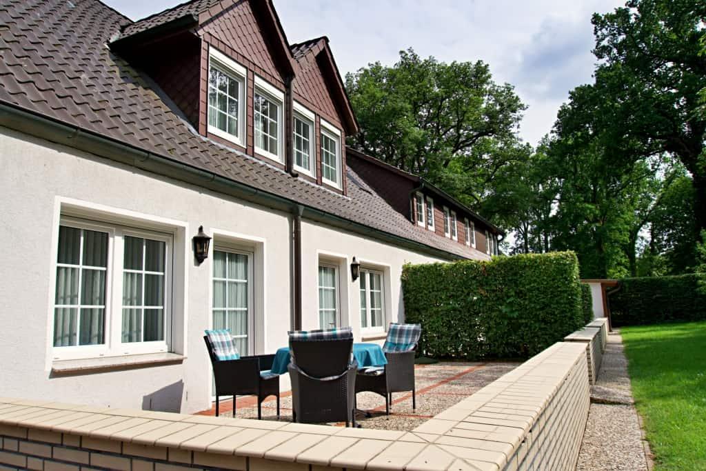 Terrasse des Appartements | Hof Barrl Schneverdingen