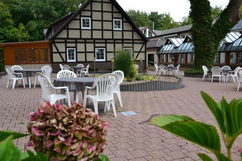 Terrasse Café Restaurant Hof Barrl in 29640 Schneverdingen